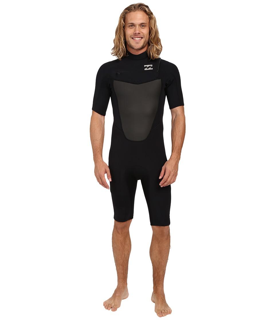 Billabong - 202 Foil Chest Zip Spring Wetsuit (Black) Men's Swimsuits One Piece