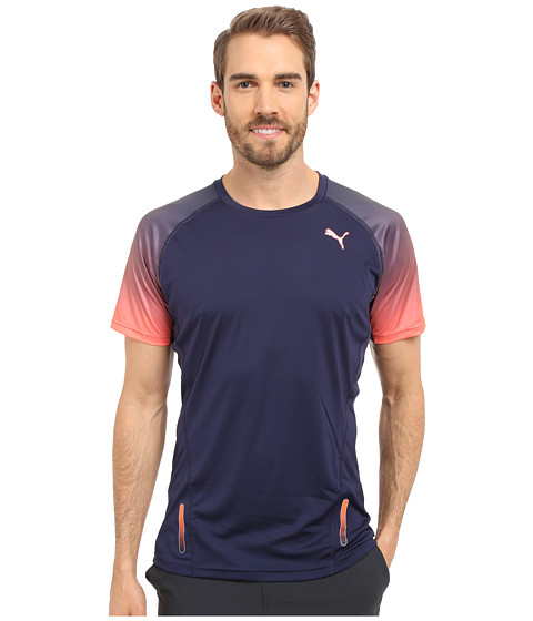 PUMA - Ignite Short Sleeve Tee (Peacoat) Men's T Shirt