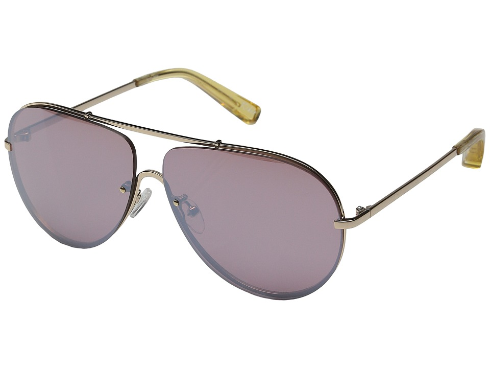 Elizabeth and James - Rider (Light Gold/Rose Mono Flash Lens) Fashion Sunglasses