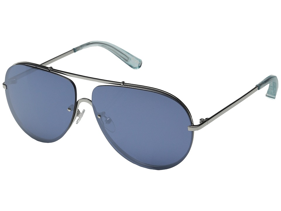 Elizabeth and James - Rider (Silver/Blue Mono Flash Lens) Fashion Sunglasses