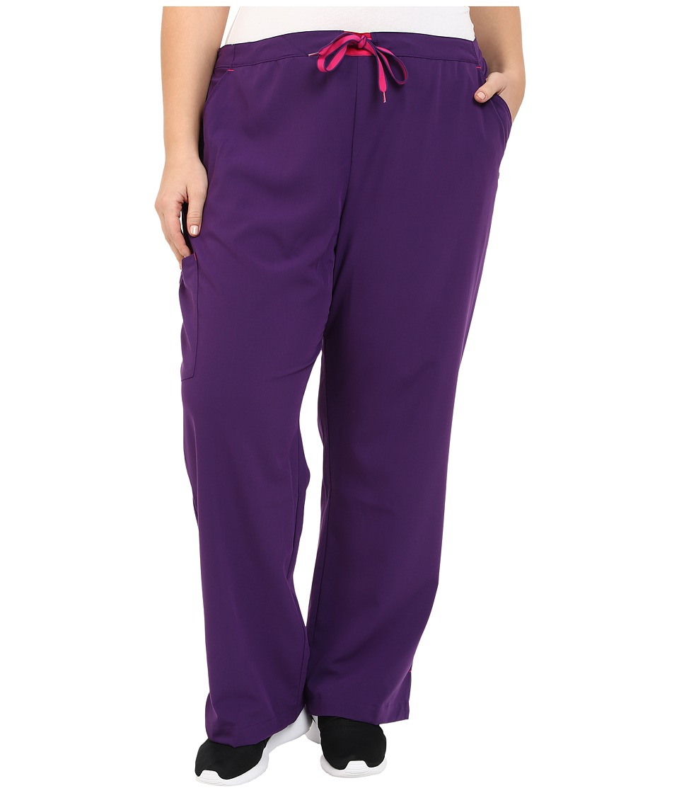 Jockey - Plus Size Modern Convertible Drawstring Waist Pants (Eggplant) Women's Casual Pants