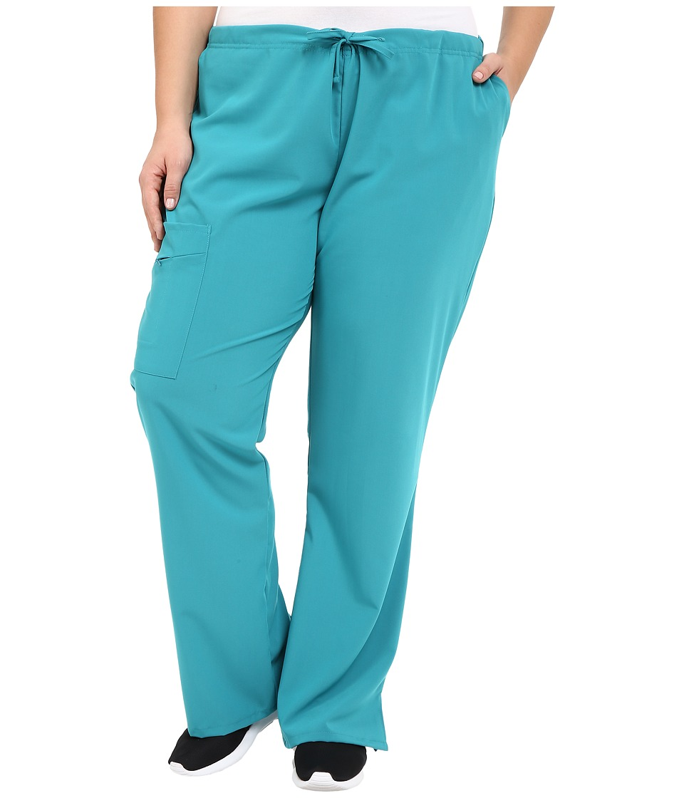 Jockey - Plus Size Front Drawstring Pants (Teal) Women's Casual Pants
