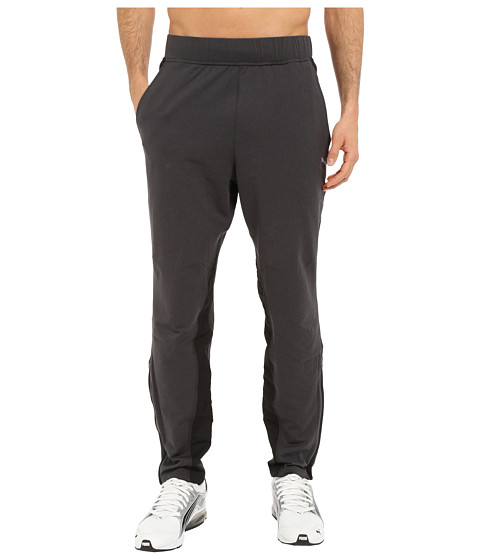 PUMA - Mixed Material Pants (Black Heather) Men's Casual Pants