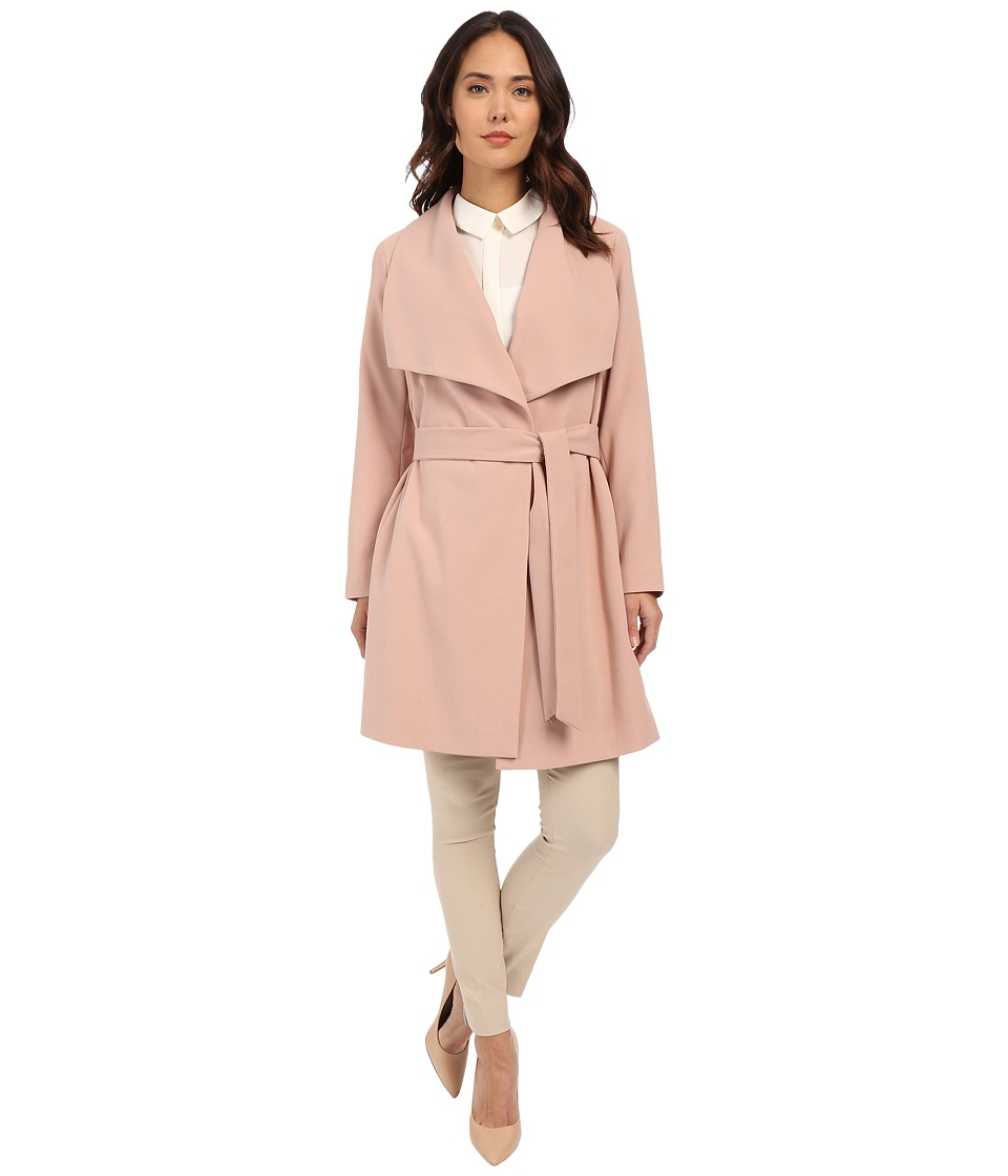 LAUREN Ralph Lauren - Belted Drape Front (Blush) Women's Coat