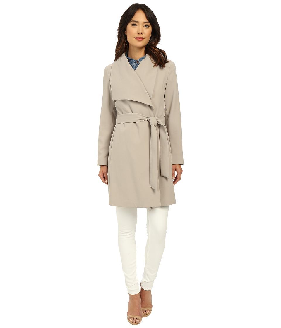 LAUREN Ralph Lauren - Belted Drape Front (Cork) Women's Coat