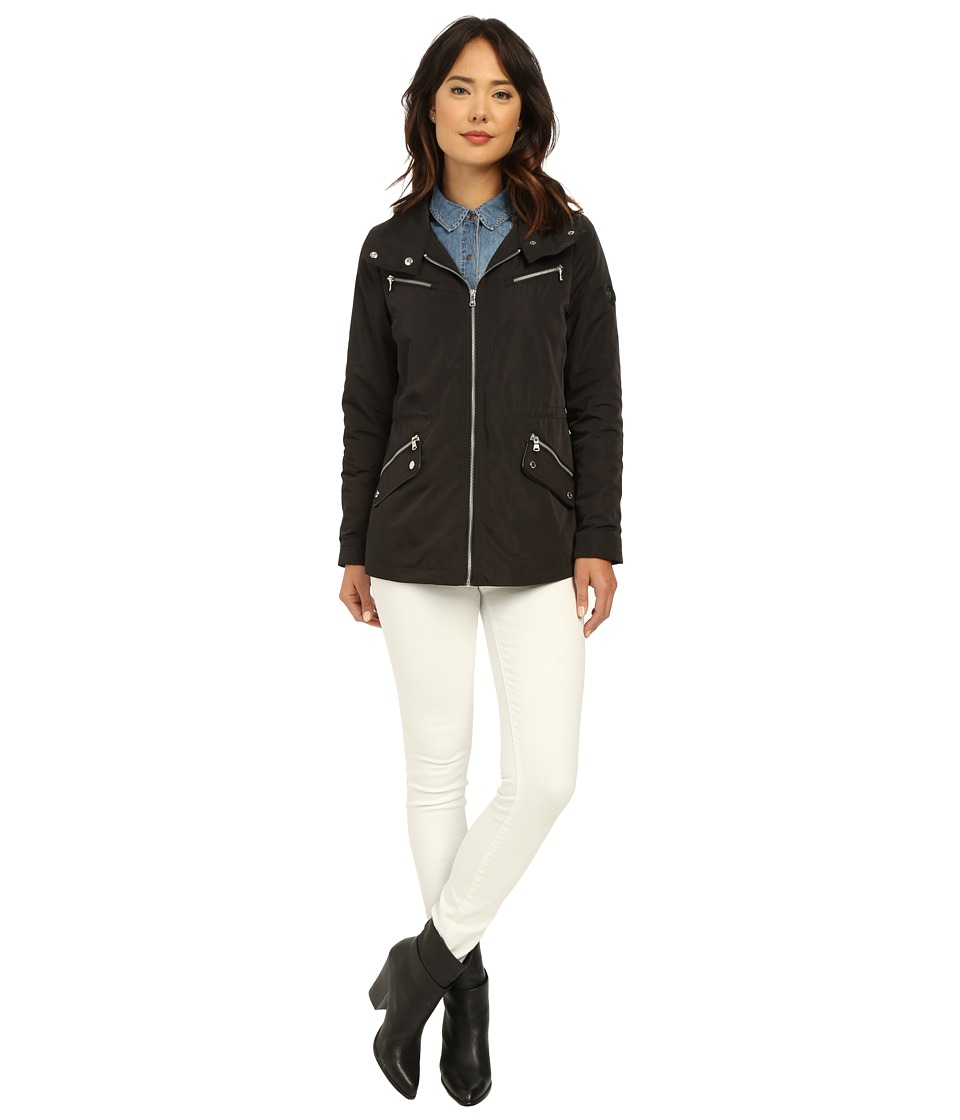 LAUREN Ralph Lauren - Wing Collar Anorak (Black) Women's Coat
