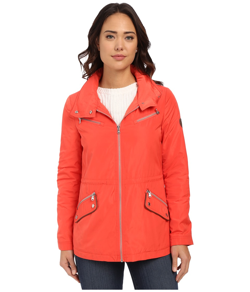 LAUREN Ralph Lauren - Wing Collar Anorak (Hot Coral) Women's Coat
