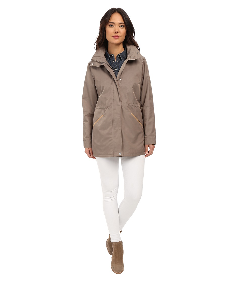 LAUREN Ralph Lauren - Anorak with Faux Leather (Light Moss) Women's Coat