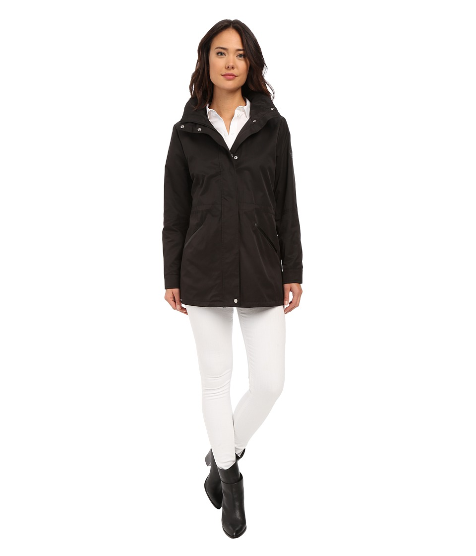 LAUREN Ralph Lauren - Anorak with Faux Leather (Black) Women's Coat