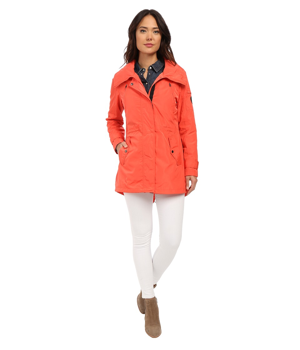 LAUREN Ralph Lauren - Swallow Tail Anorak (Deco Coral) Women's Coat