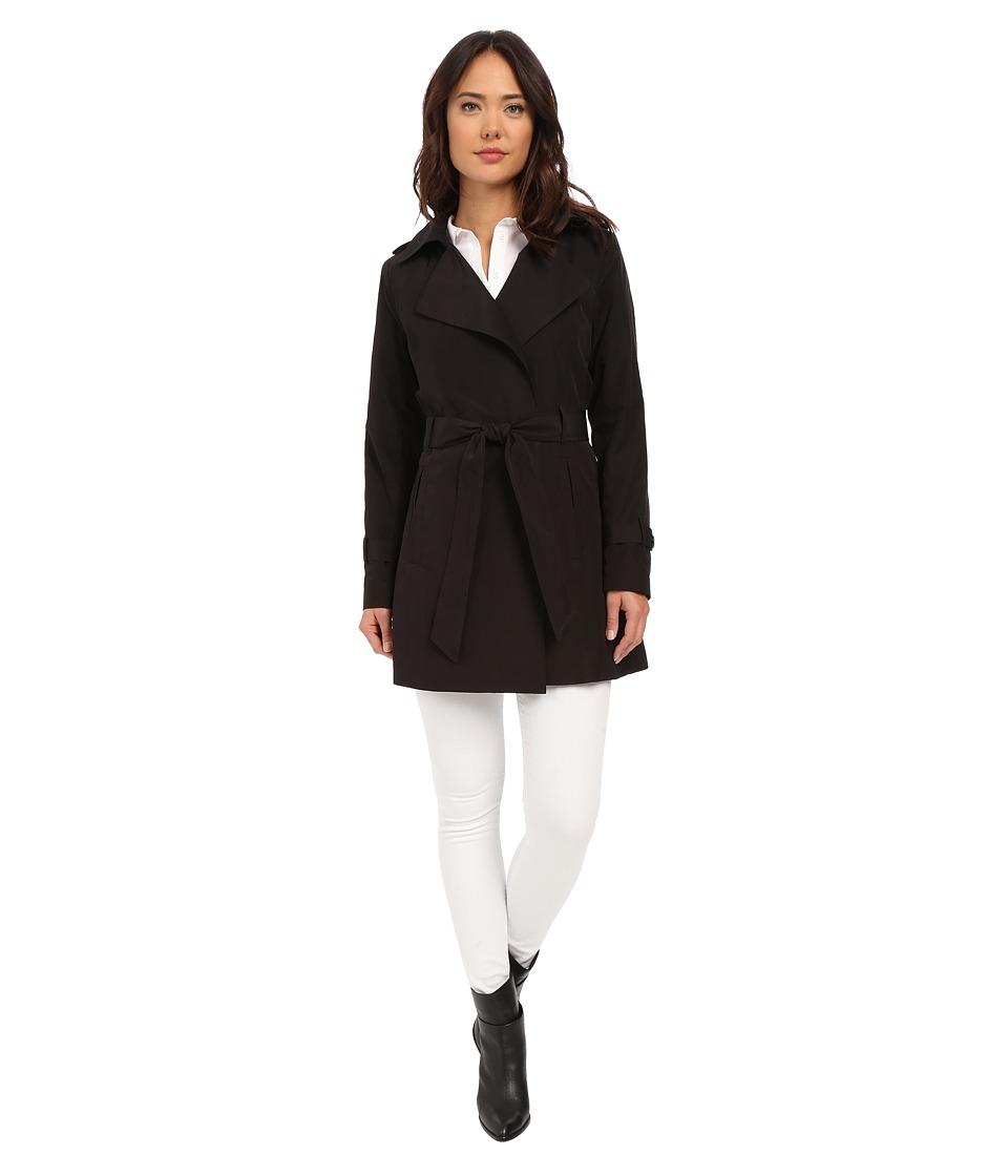LAUREN Ralph Lauren - Mallow Belted Trench (Black) Women's Coat
