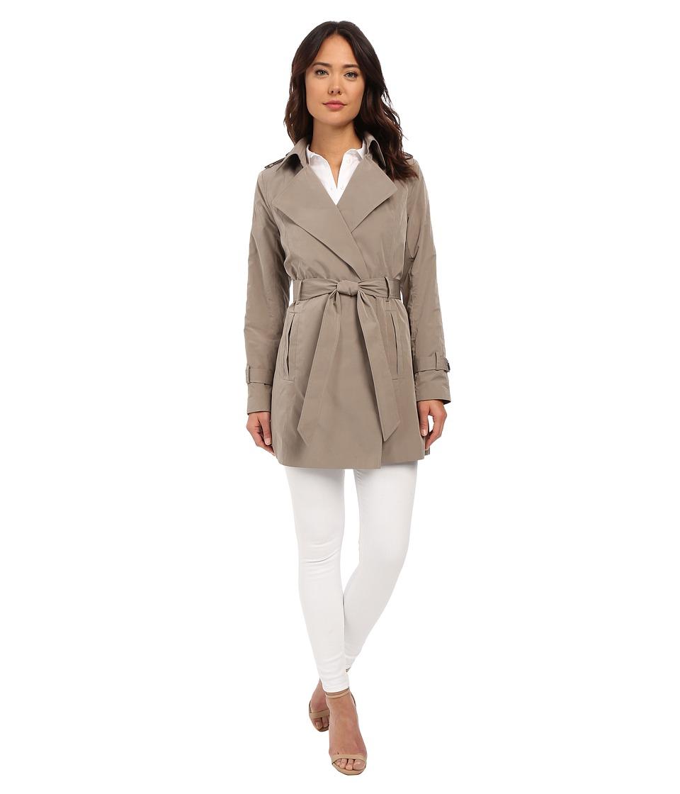 LAUREN Ralph Lauren - Mallow Belted Trench (Silver) Women's Coat