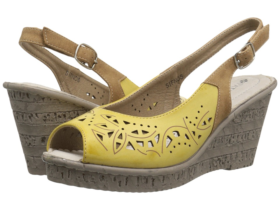 PATRIZIA - Sifnos (Yellow) Women's Wedge Shoes