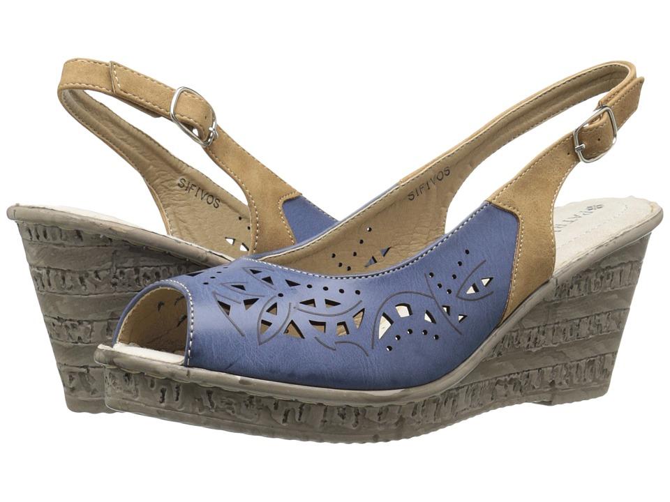 PATRIZIA - Sifnos (Blue) Women's Wedge Shoes