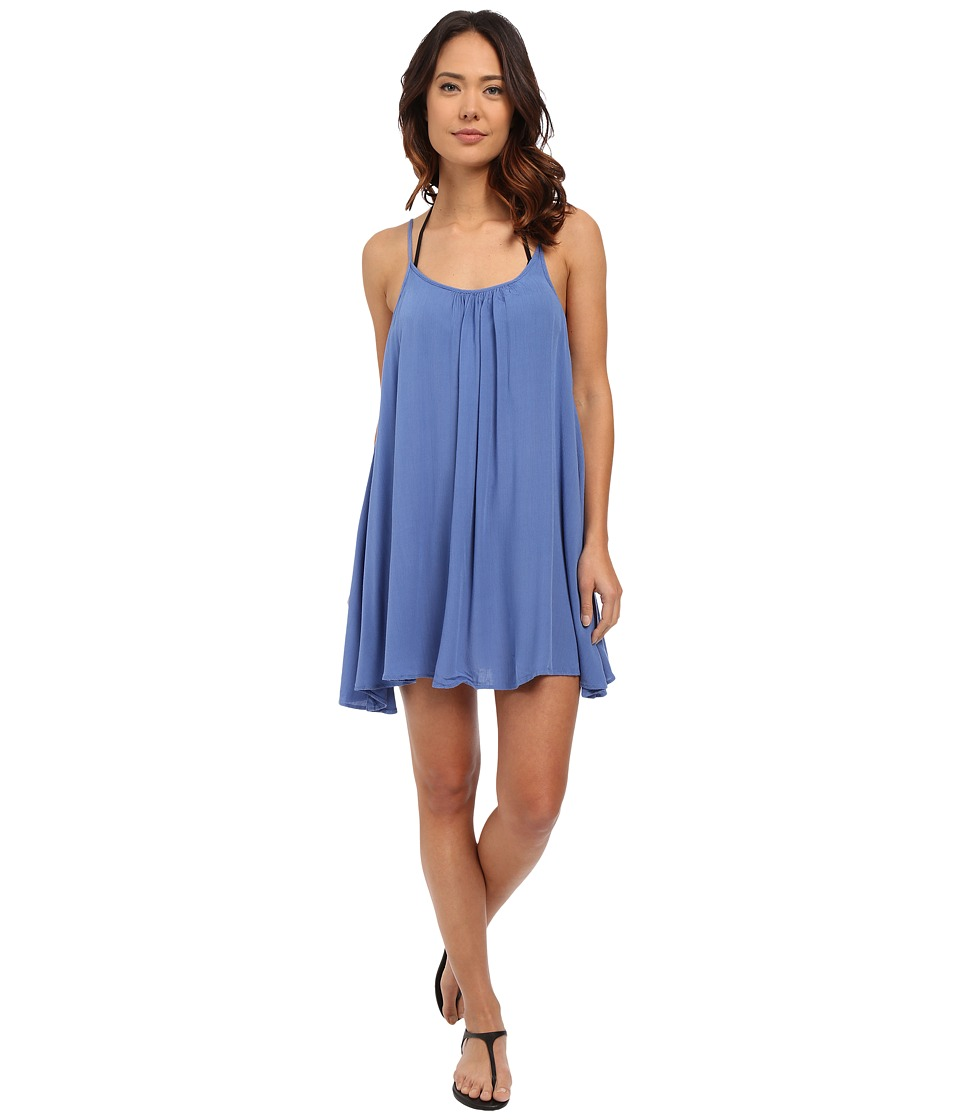 Roxy - Windy Fly Away Dress Cover-Up (Chambray) Women's Swimwear