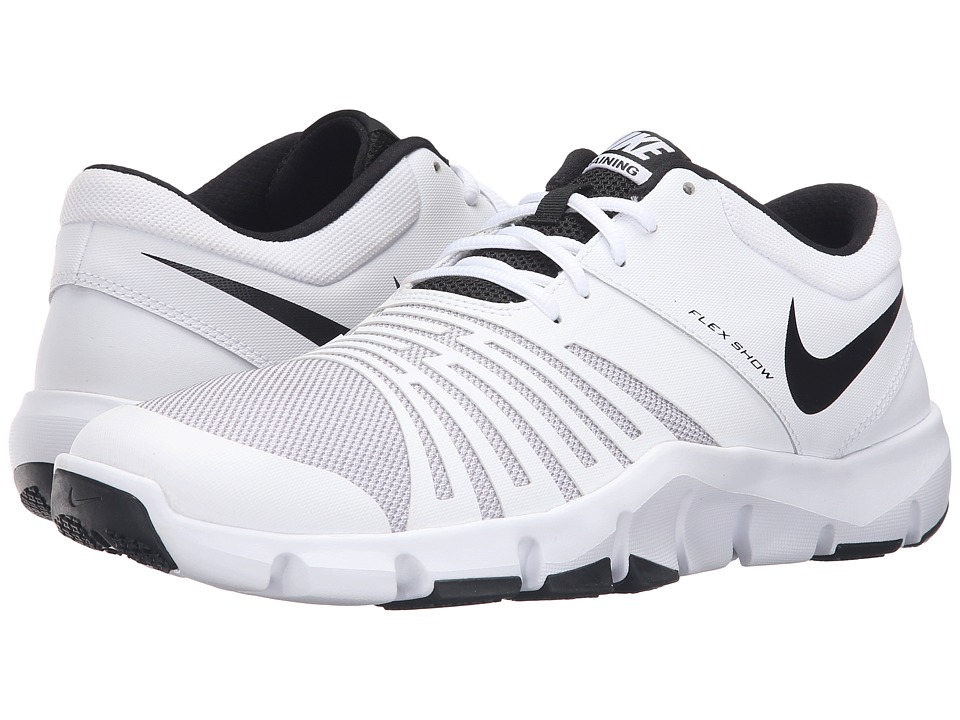 Nike - Flex Show TR 5 (White/Black) Men's Cleated Shoes