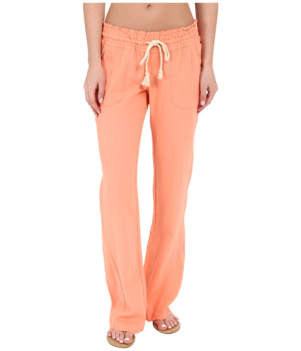Roxy - Ocean Side Pants Cover-Up (Sunkissed Coral) Women's Swimwear