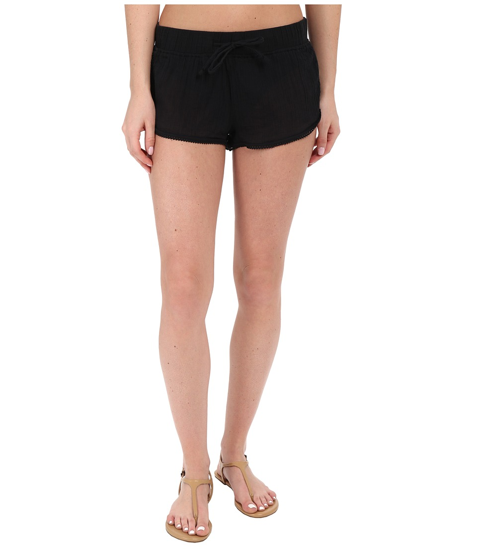 Roxy - Soft Crochet Shorts Cover-Up (True Black) Women