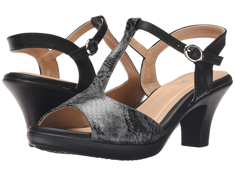 PATRIZIA - Toad (Black Python) High Heels