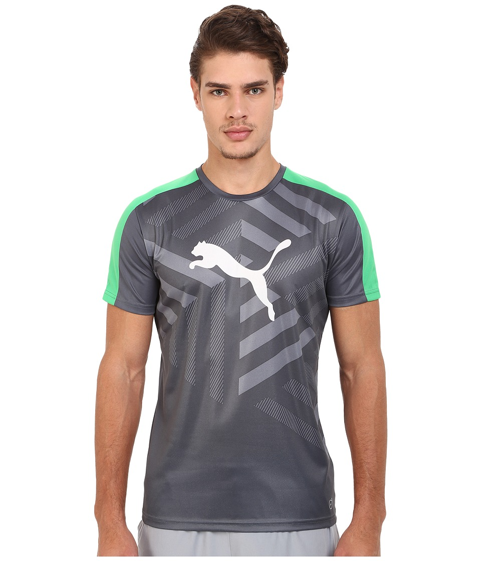 PUMA - IT Evotrg Graphic Tee (Turbulence/White/Bright) Men's T Shirt