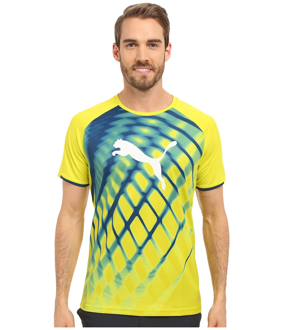 PUMA - IT Evotrg Graphic Tee (Sulphur Spring/Poseidon) Men