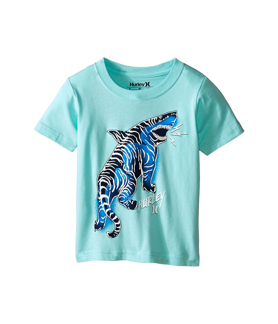 Hurley Kids - Tiger Shark Short Sleeve Tee (Little Kids) (Artisan Teal) Boy's T Shirt
