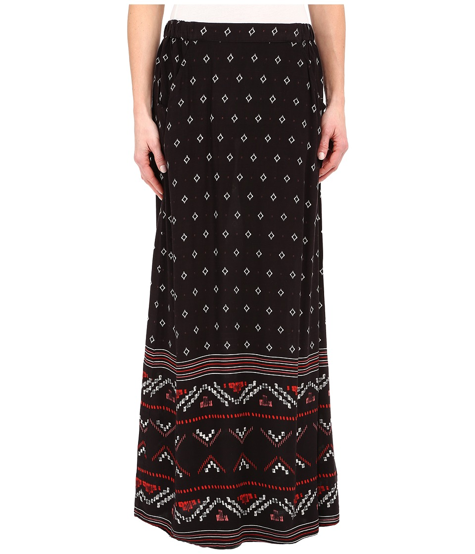 Roxy - Solida Maxi Skirt (Big Gypsy Border Print Solida Dark Midnight) Women's Skirt