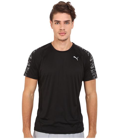 PUMA - PR Nightcat Illuminate Short Sleeve (Black) Men's Workout