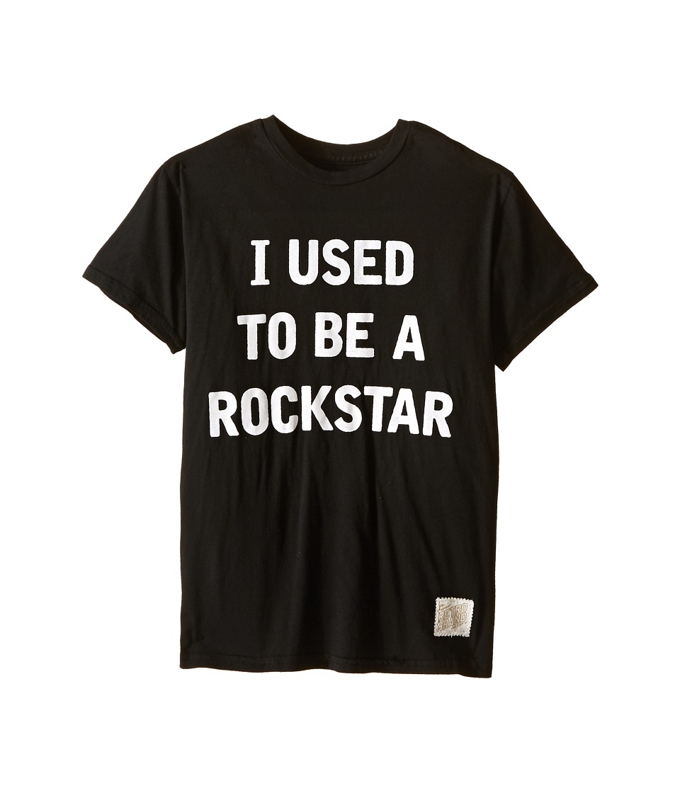 The Original Retro Brand Kids - I Used To Be A Rockstar Short Sleeve Tee (Big Kids) (Black) Boy's T Shirt