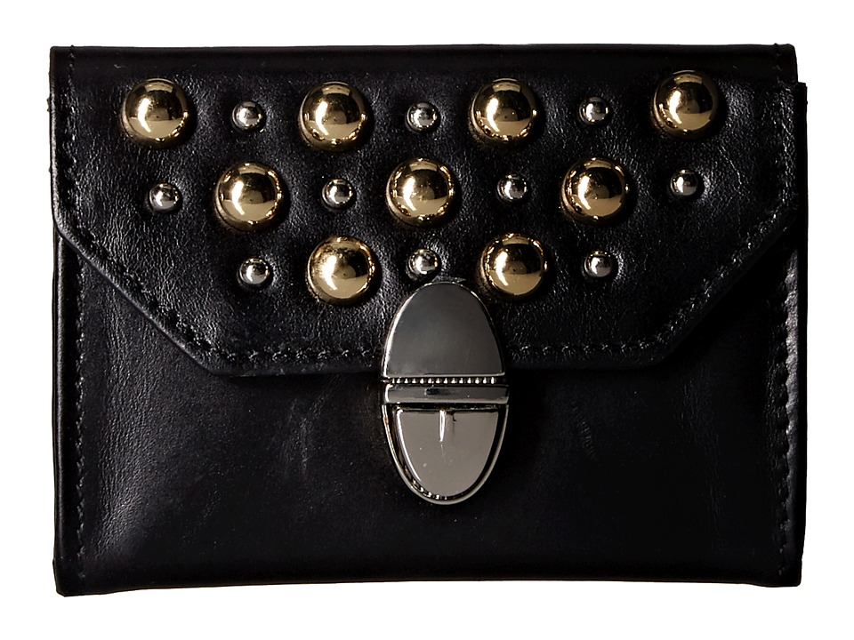 The Kooples - Leather and Studs Purse (Black) Wallet Handbags