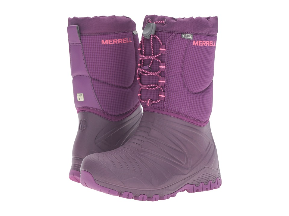 Merrell Kids Snow Quest Lite Waterproof (Little Kid) (Berry WPF Synthetic) Girls Shoes