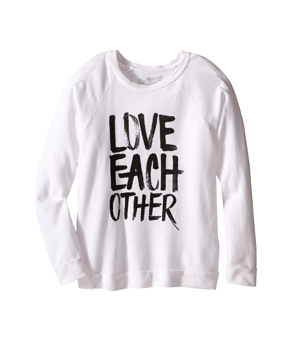 The Original Retro Brand Kids - Love Each Other Quad Blend Sweatshirt Pullover (Big Kids) (Quad White) Girl