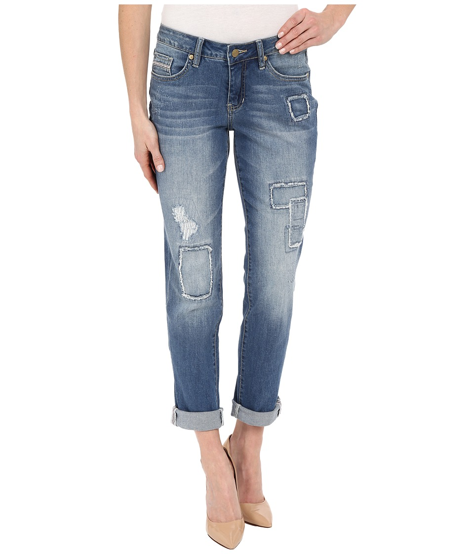 Jag Jeans - Patched Alex Boyfriend Capital Denim in Rock Water Blue (Rock Water Blue) Women's Jeans