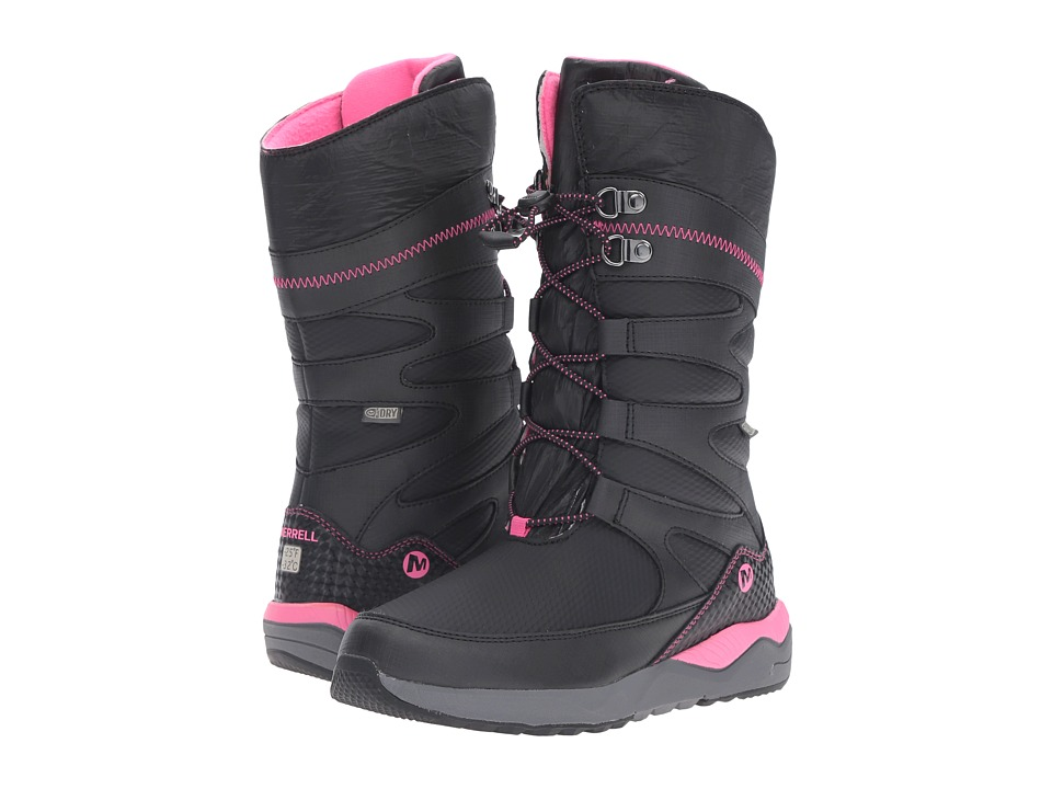Merrell Kids - Artic Blast Waterproof Tall Boot (Toddler/Little Kid) (Black/Pink WPF Synthetic) Girls Shoes