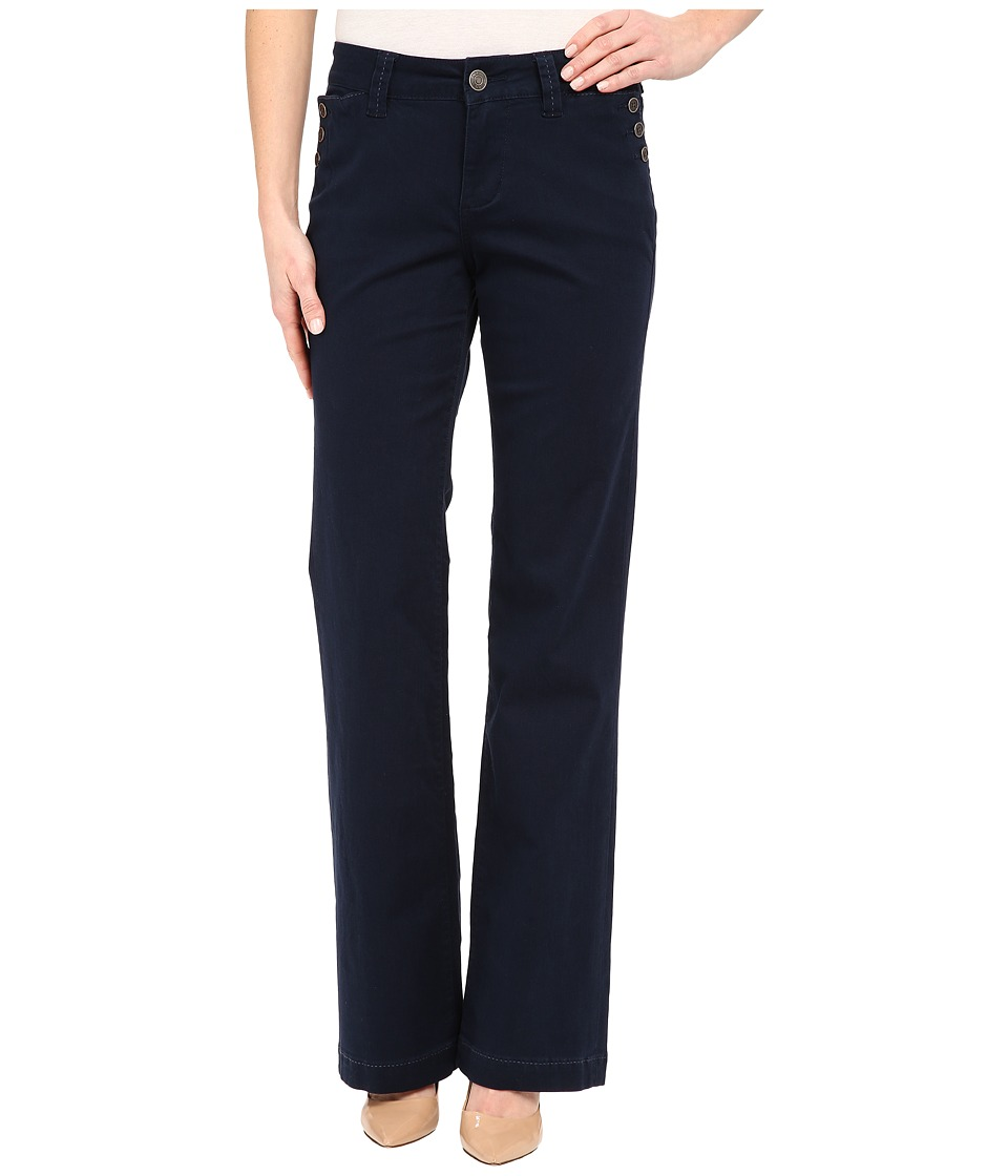 Jag Jeans - Farrah Wide Leg in Bay Twill (Nautical Navy) Women's Jeans