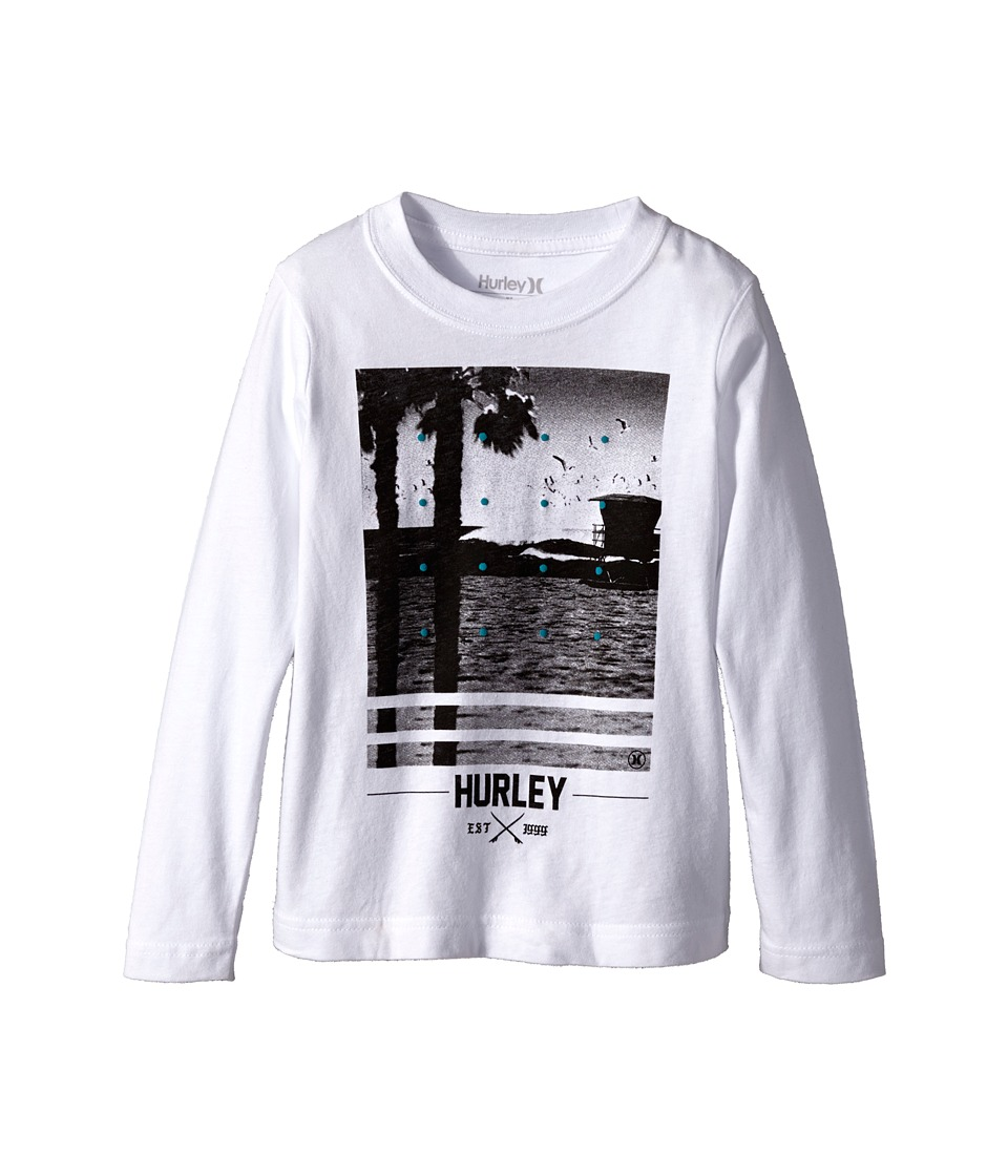 Hurley Kids - Not Going Out There Short Sleeve Tee (Little Kids) (White) Boy