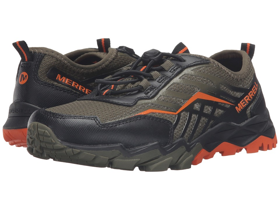 Merrell Kids - Hydro Run (Little Kid) (Olive/Black/Orange) Boys Shoes