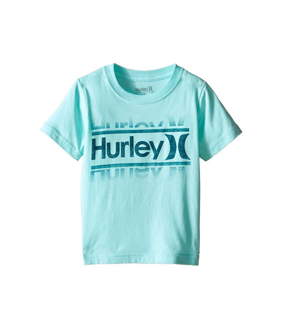 Hurley Kids - Bit Off Short Sleeve Tee (Little Kids) (Artisan Teal) Boy's T Shirt