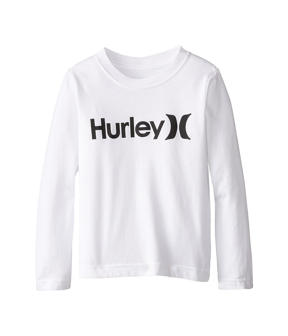 Hurley Kids - One and Only Long Sleeve Tee (Little Kids) (White) Boy