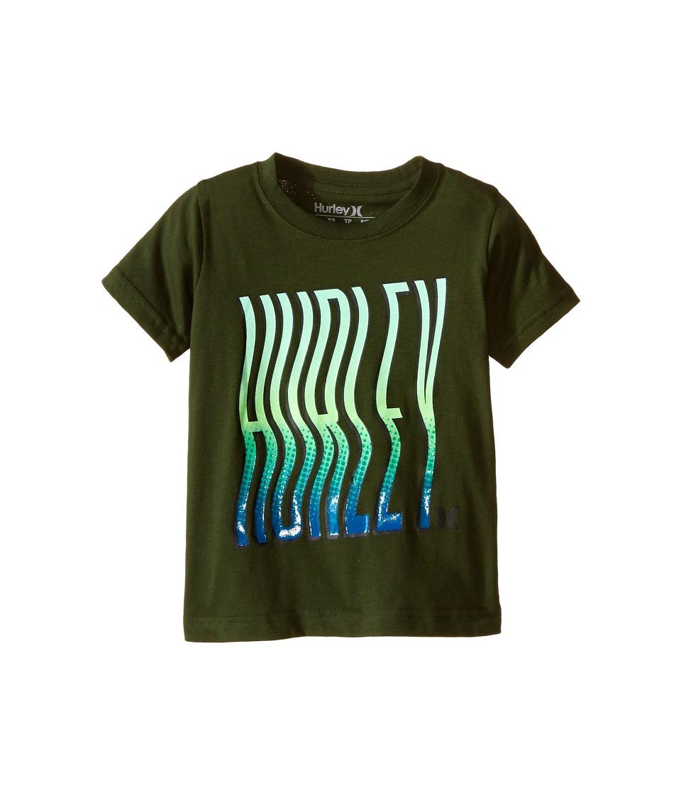 Hurley Kids - Wavey Type Tee (Little Kids) (Carbon Green) Boy's T Shirt
