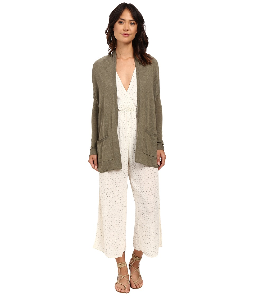 Billabong - Outside The Lines Cardigan (Seagrass) Women's Sweater