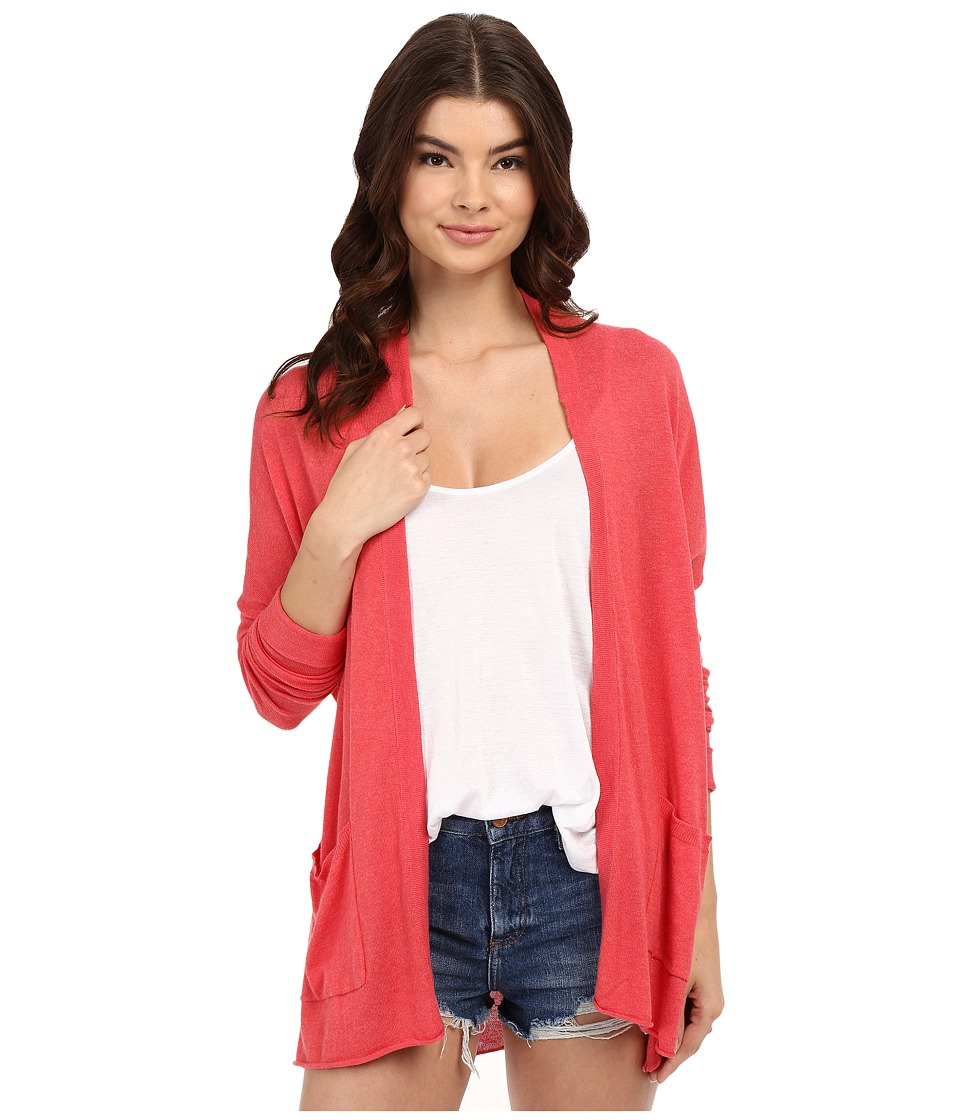Billabong - Outside The Lines Cardigan (Coral) Women's Sweater