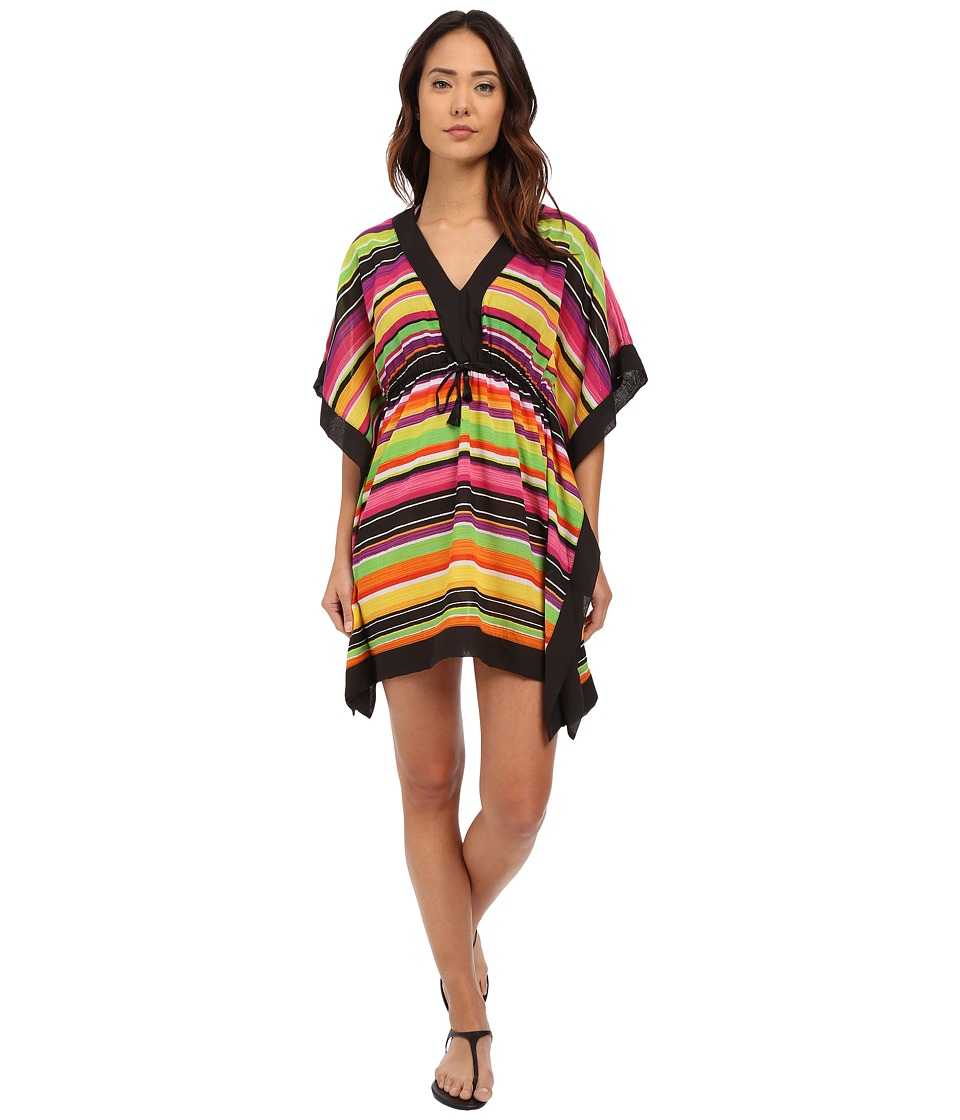 LAUREN Ralph Lauren - Sunset Stripe Sydney Tunic Cover-Up (Black) Women's Swimwear