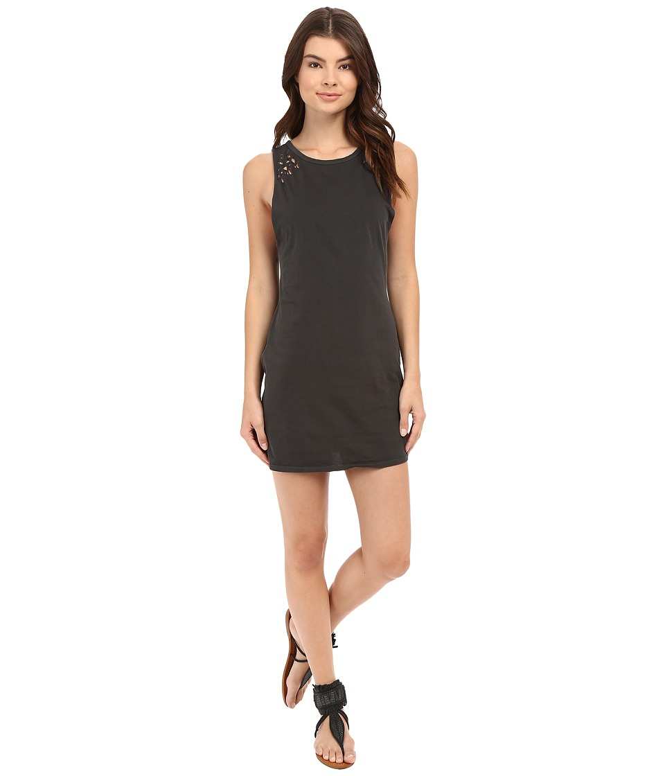 Billabong - Closed Case Dress (Off-Black) Women's Dress