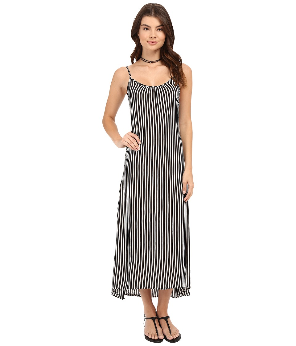 Billabong - Easy Does It Maxi Dress (Black/White) Women's Dress