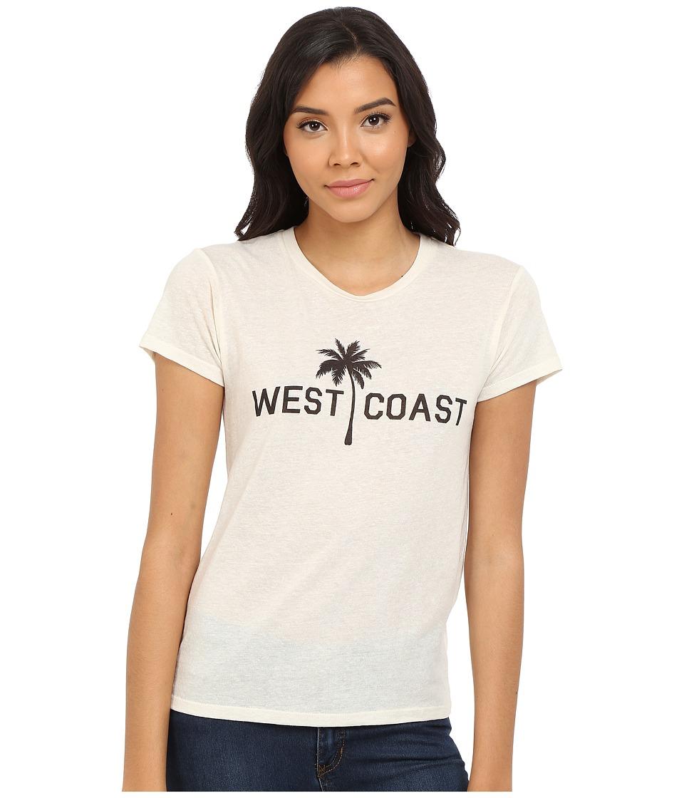 Billabong - West Coast Palm Tee (White Cap) Women's Short Sleeve Pullover