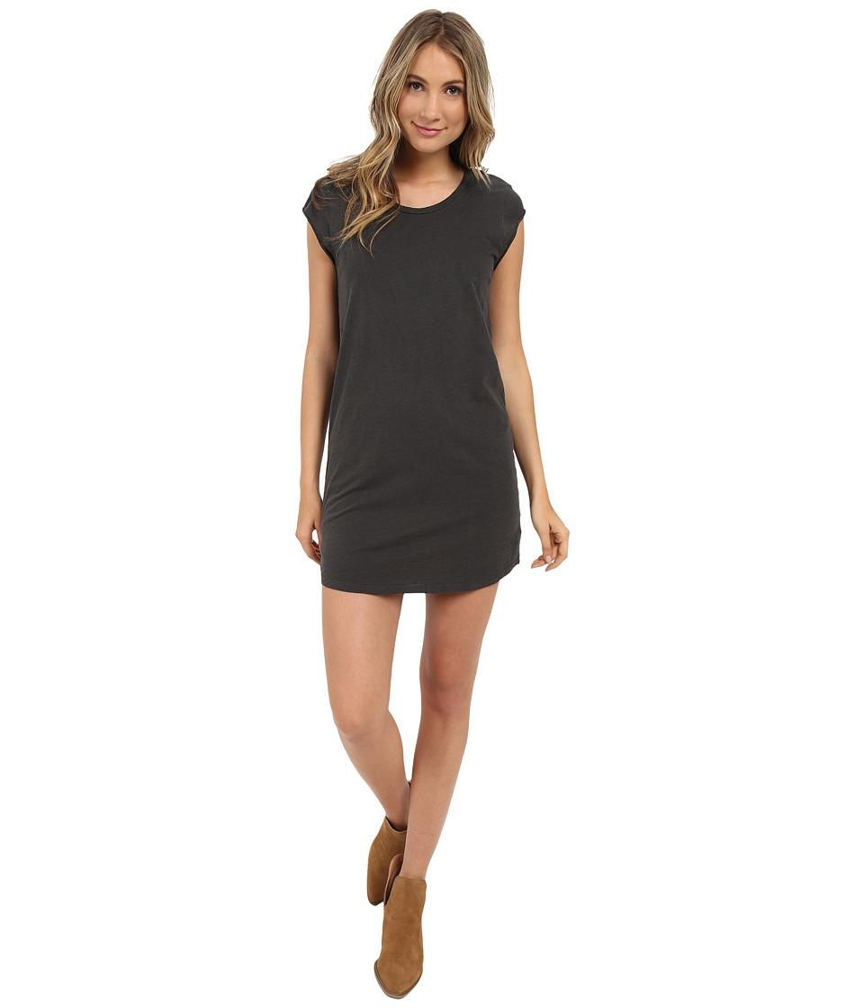 Billabong - Time Flies Tee Dress (Off-Black) Women's Short Sleeve Pullover