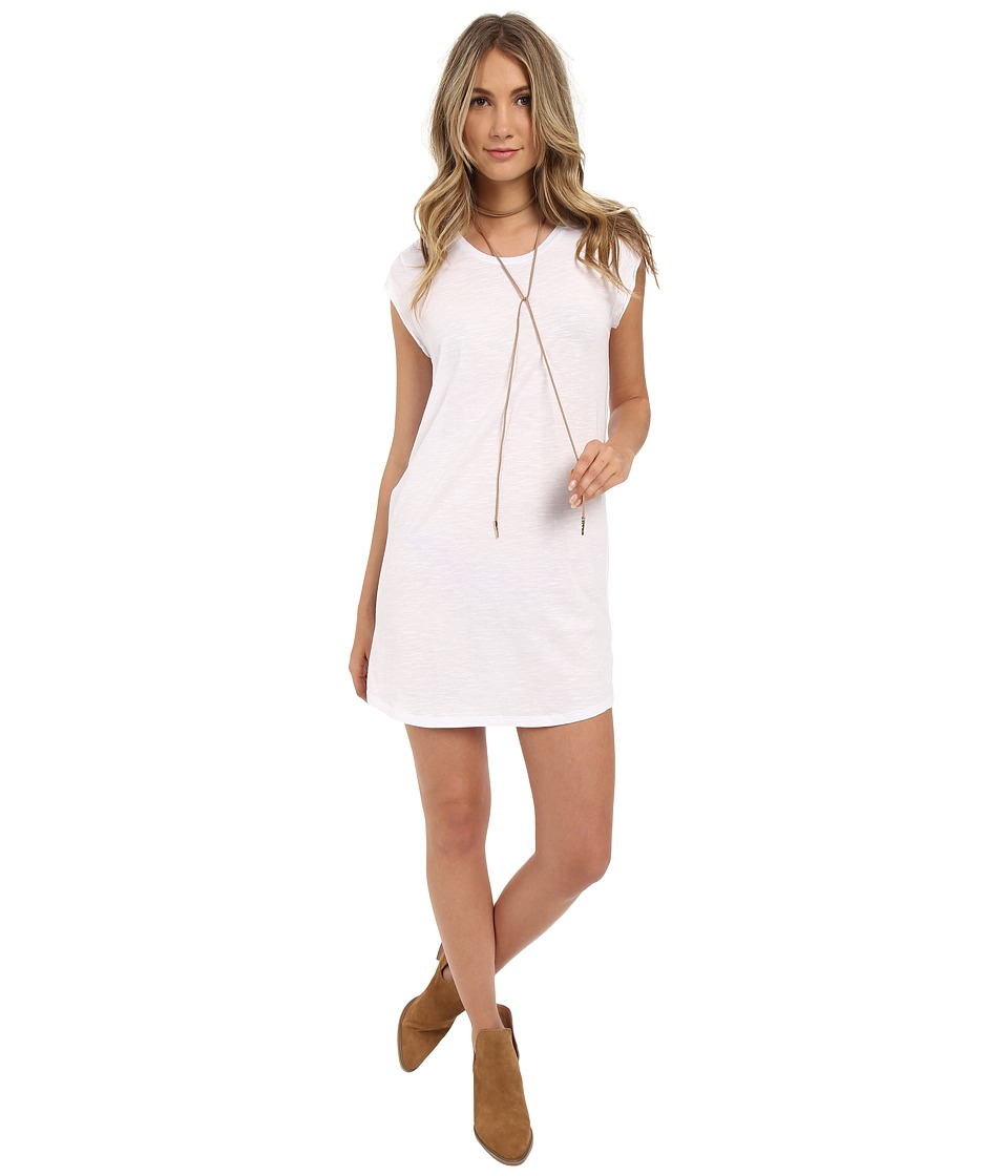 Billabong - Time Flies Tee Dress (White) Women's Short Sleeve Pullover