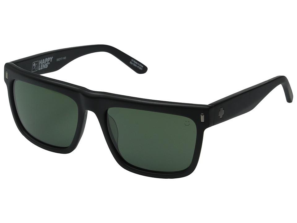 Spy Optic - Broderick (Matte Black/Happy Gray Green) Sport Sunglasses