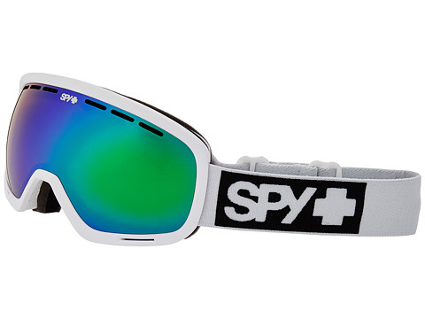 Spy Optic - Marshall (White/Bronze/Green Spectra/Persimmon Contact) Snow Goggles
